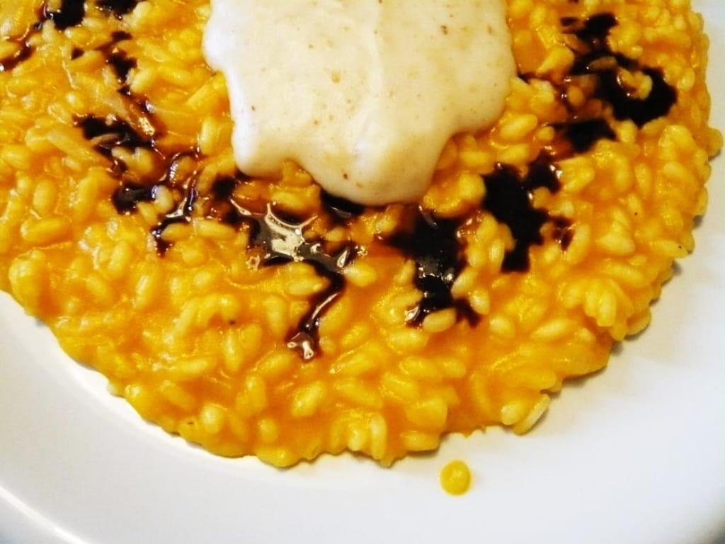 Ricetta Orzotto Zucca.Ricetta Risotto Alla Zucca Con Crema Di Parmigiano E Aceto Balsamico Cucchiaio D Argento