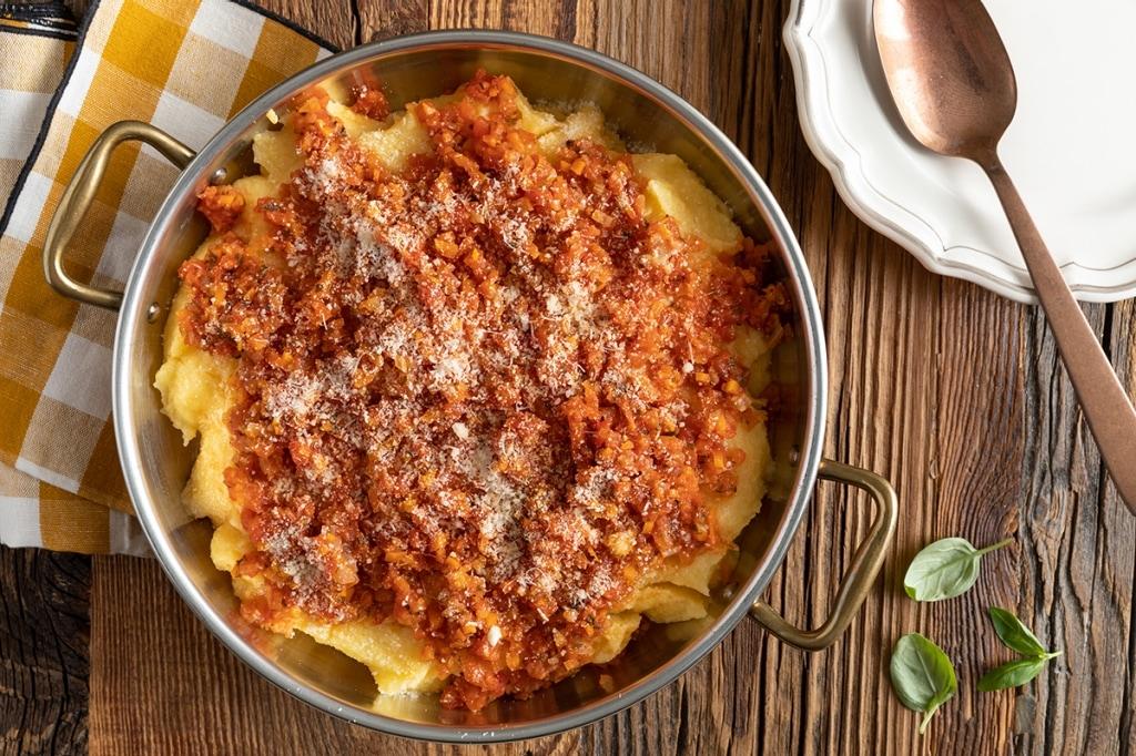 ... polenta creamy polenta pumpkin polenta polenta with sugo finto recipes