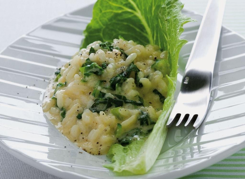 Ricetta risotto alla lattuga cucchiaio d 39 argento for Verdura tipica romana