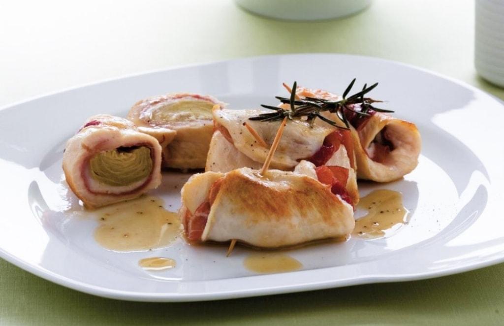 Ricetta involtini di pollo ai carciofi cucchiaio d 39 argento for Primi piatti particolari
