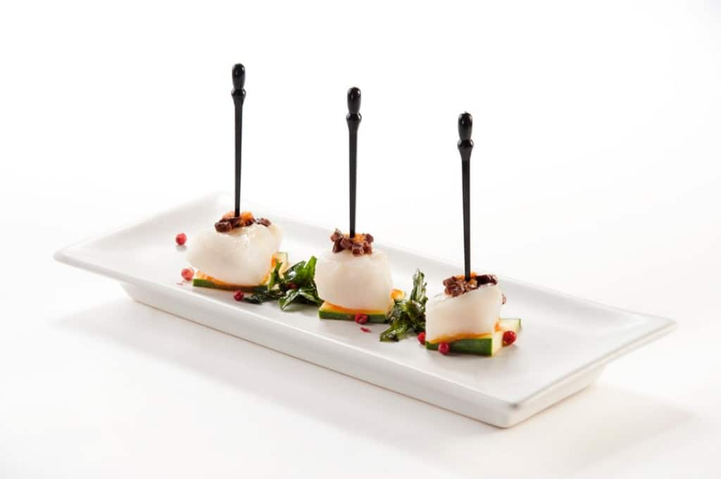 Finger food di filetto di halibut