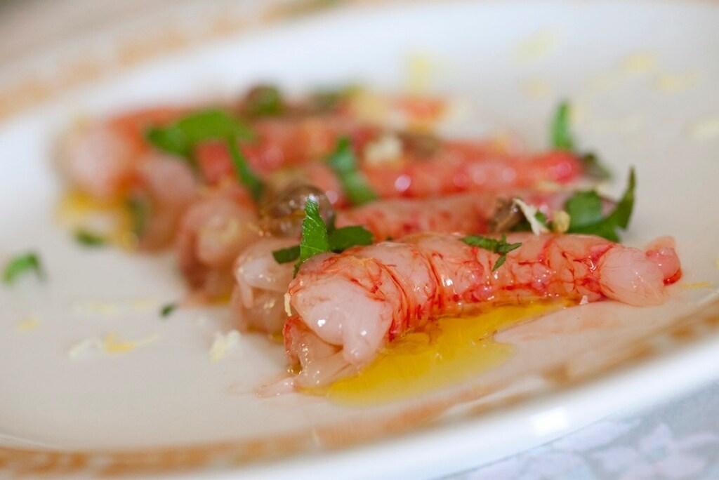 Ricetta crudo di gamberi for Gambero rosso ricette