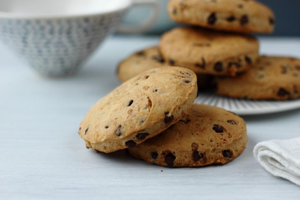 Ricetta Cookies Con Poco Burro.Ricetta Biscotti Con Gocce Di Cioccolato Cucchiaio D Argento