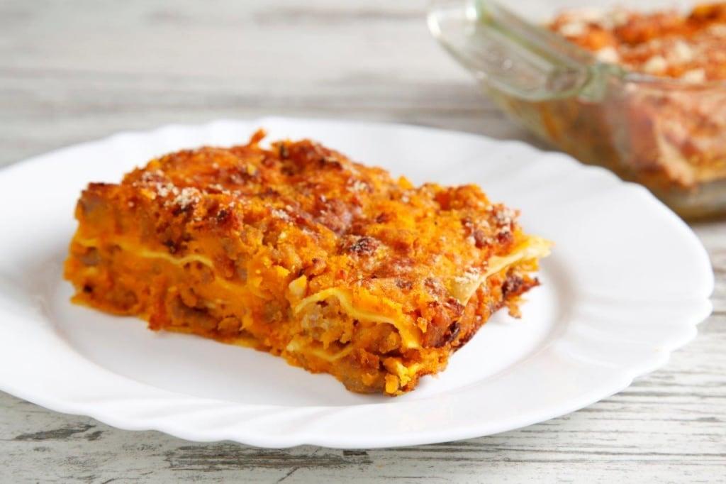 Ricetta Lasagne Di Zucca.Ricetta Lasagne Alla Zucca Con Salsiccia Cucchiaio D Argento