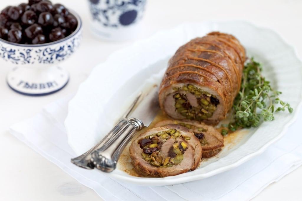 Ricetta arrosto di maiale ripieno di asparagi amarene for Arrosto maiale