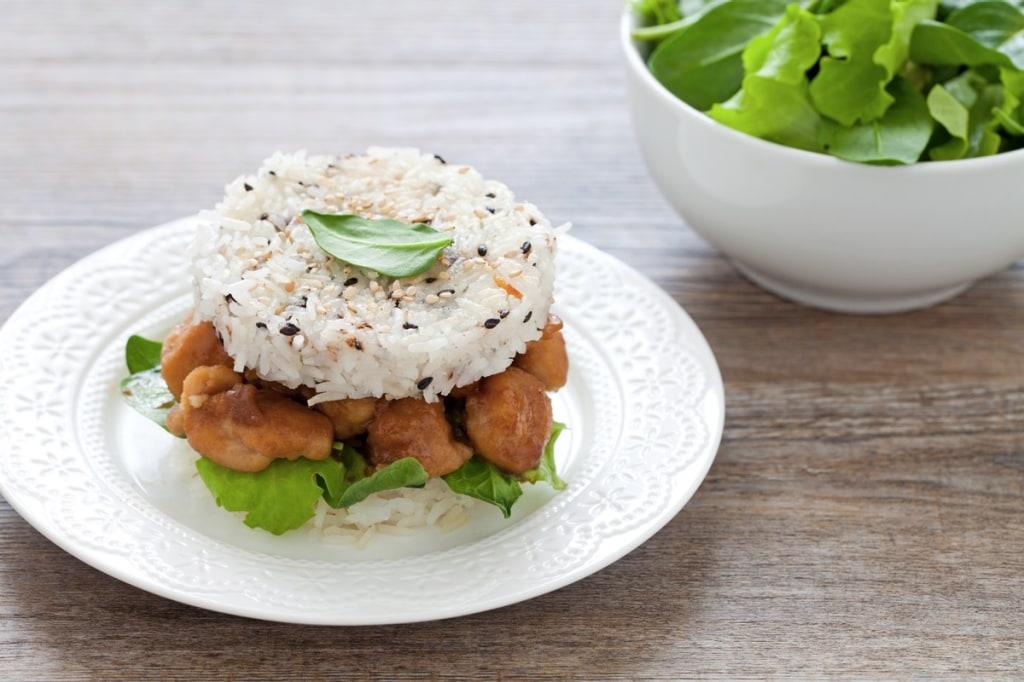Ricetta burger di riso e pollo in salsa di soia for Ricette di riso