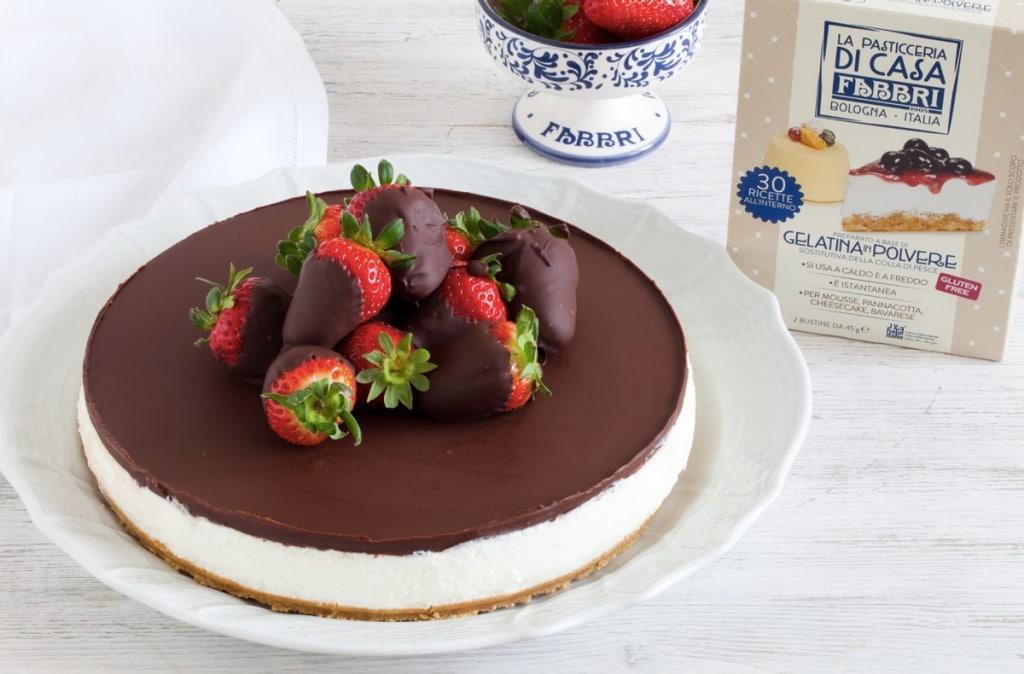 Ricetta Cheesecake Senza Cottura Al Mascarpone Cioccolato E Fragole