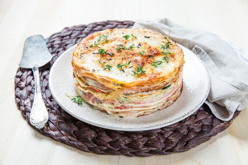 Ricette crepes salate con prosciutto e formaggio