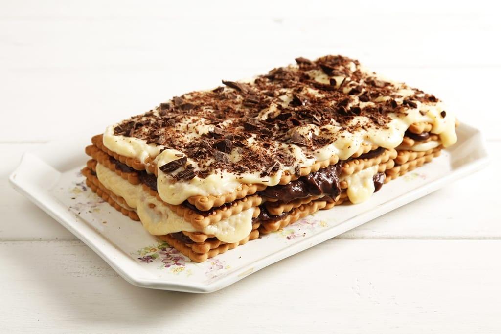 Eccezionale Ricetta Torta con biscotti secchi e crema pasticcera - Cucchiaio d  DP06
