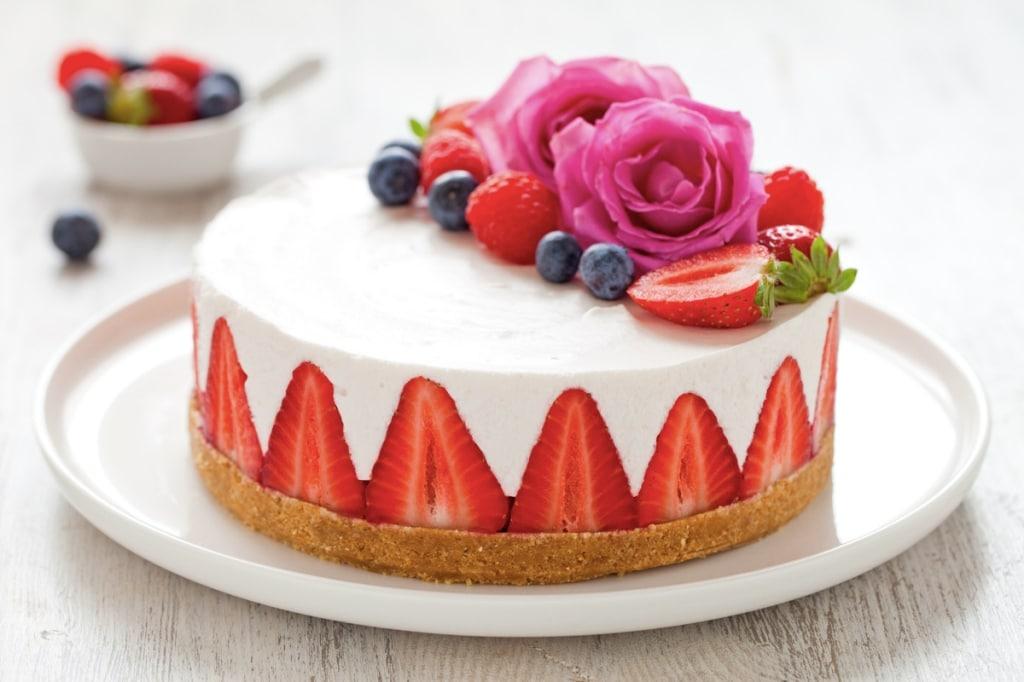 Ricetta Cheesecake Senza Cottura Alle Fragole Cucchiaio Dargento