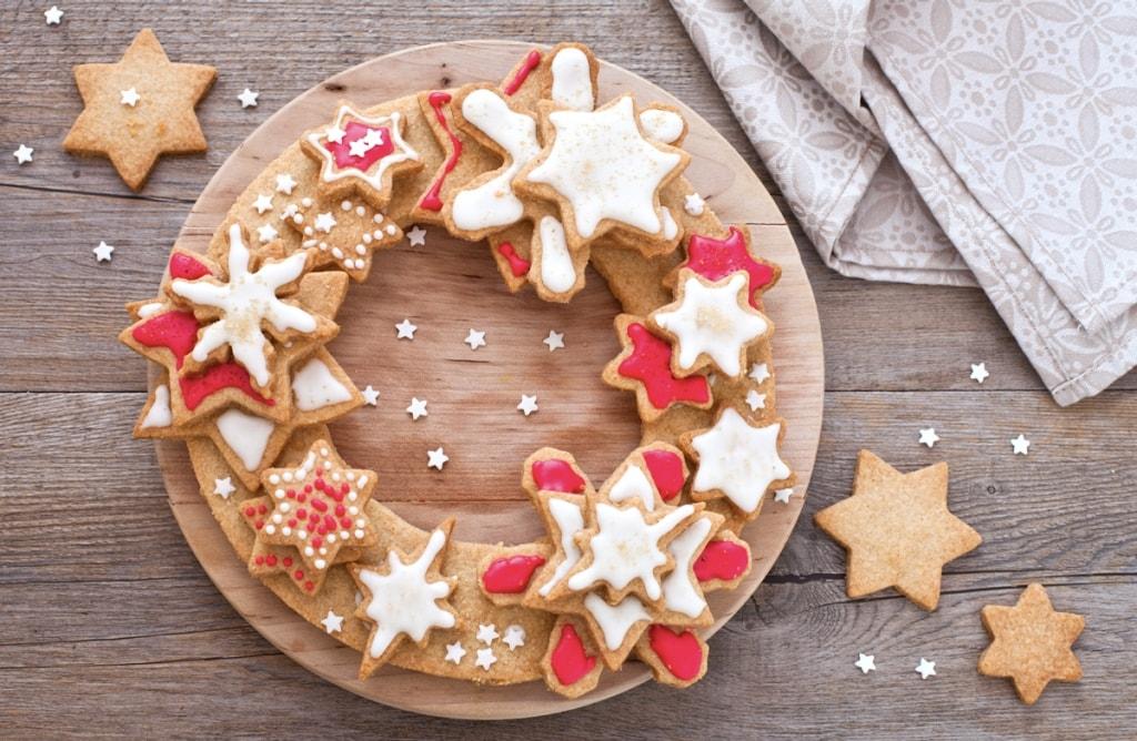 Dolci Di Natale Biscotti.Ricetta Corona Di Biscotti Di Natale Cucchiaio D Argento