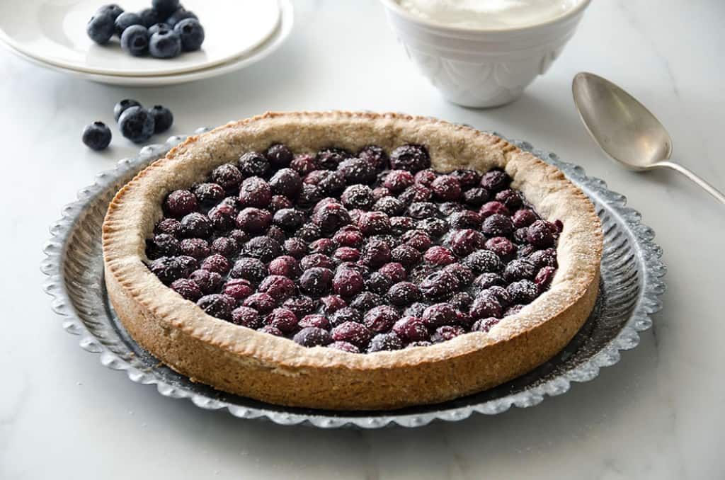 Crostata rustica di mirtilli