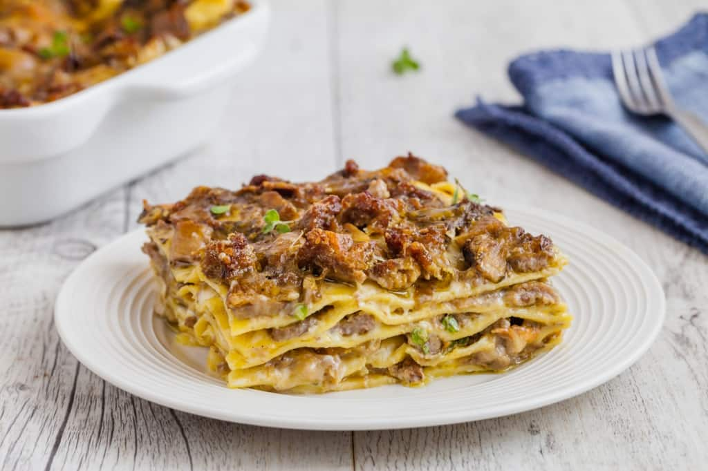 Ricetta Lasagne Toscane.Ricetta Lasagne Funghi E Salsiccia Cucchiaio D Argento