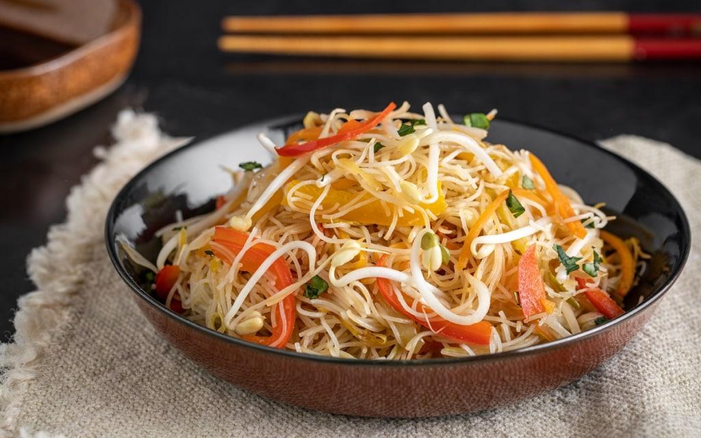 Ricetta Noodles Di Soia.Ricetta Spaghetti Di Riso Con Verdure Cucchiaio D Argento