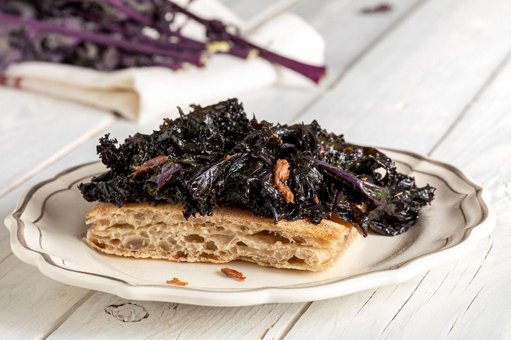 Ricetta Cavolo riccio viola in padella