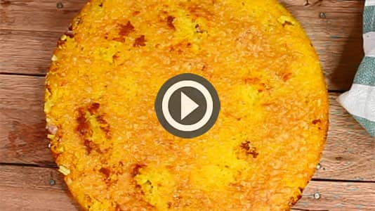 Guarda il video del Tortino di risotto giallo gratinato