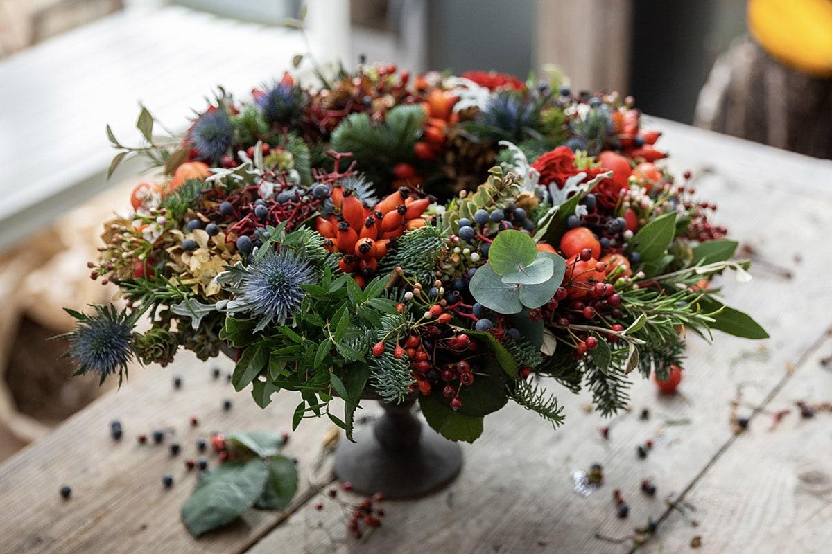 Ghirlanda di Natale: un bel regalo che rispetta la natura