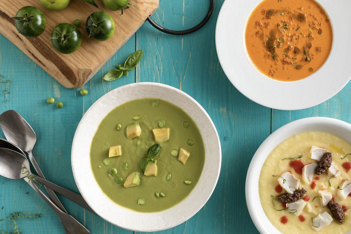 Zuppe e creme fredde: 6 ricette colorate, divertenti, inaspettate